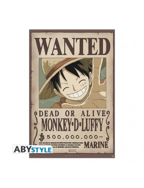 """One Piece - Poster """"WANTED LUFFY NEW..."""