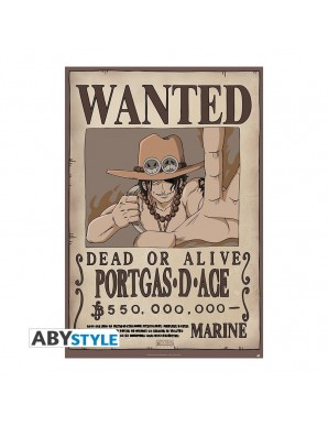 """One Piece - poster """"WANTED PORTGAS D ACE"""""""