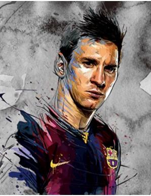 Décor mural encadré - Messi et Ronaldo -...