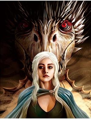 Poster Framed - Game of Thrones - 3D Print 30x40cm