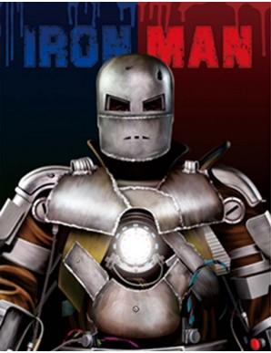 Poster Framed - Iron Man Mark I - 3D Print 30x40cm