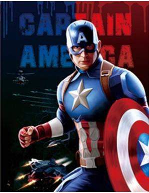 Poster Framed - Captain America - 3D Print 30x40cm