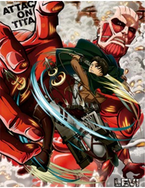 Poster Framed Attack on Titan 3 characters - 3D...