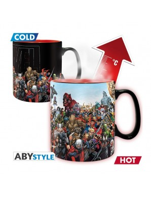 Thermo reactive mug -  Marvel - Heros