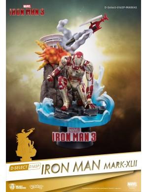 Iron Man 3 diorama PVC D-Select Iron Man Mark...