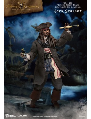 Pirates of the Caribbean Dynamic Action Heroes 1/9 Jack Sparrow 20 cm Figure
