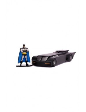 Batman The Animated Series 1/32 Hollywood Rides Metal Batmobile with figure