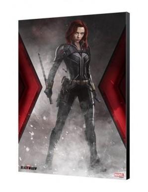 Black Widow Movie tableau en bois BW Fumée 34 x...