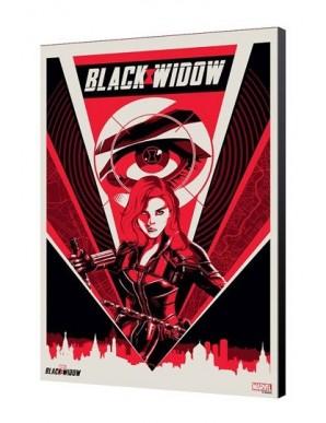 Black Widow Movie tableau en bois BW Moscow 34...