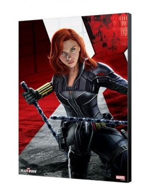Black Widow Movie tableau en bois BW Kneeling...