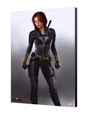 Black Widow Movie tableau en bois BW en Gris 34...