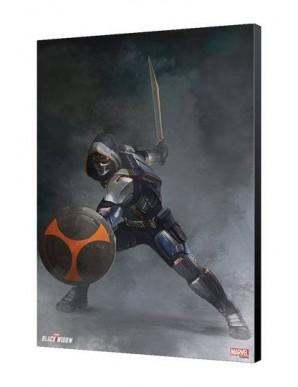 Black Widow Movie tableau en bois Taskmaster Attack 34 x 50 cm