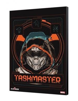 Black Widow Movie tableau en bois Taskmaster Face 34 x 50 cm