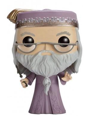 Harry Potter POP! Movies Vinyl figurine Dumbledore avec Baguette 9 cm