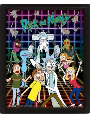 Rick and Morty Characters Poster 3D
