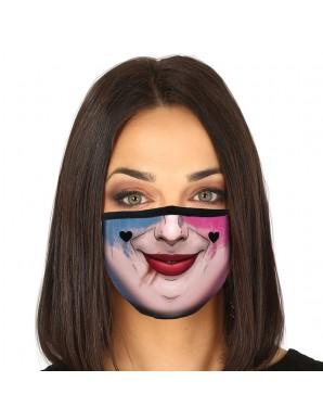 Masque réutilisable 3 couches Harley Quinn