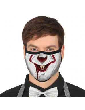 Masque réutilisable de clown 3 couches