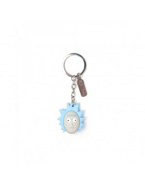 Keychain 3D Rick and Morty - Rick's Head 5 cm