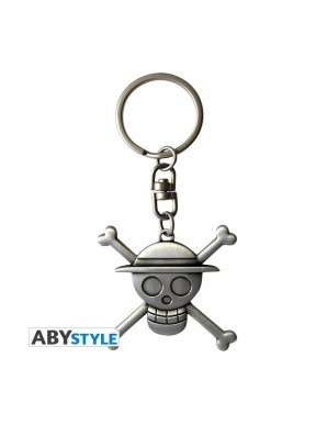 Keychain Metal - One Piece - Skull Luffy