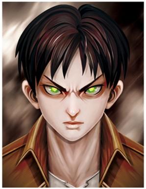 Poster Framed - Attack on Titan - Faces - 3D...