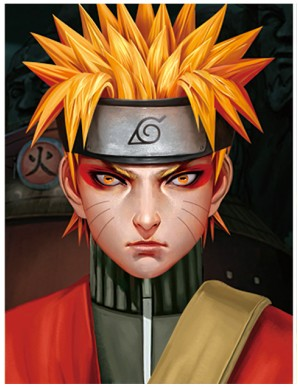 Poster Framed - Naruto - Face - 3D Print - 30x40cm