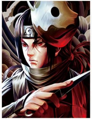 copy of Poster Framed - Naruto - Sasuke - 3D...
