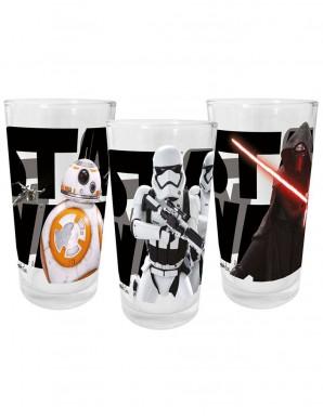 Star Wars VII pack 3 verres